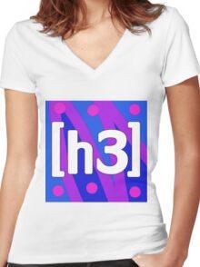 h3h3 Logo! Women's Fitted V-Neck T-Shirt
