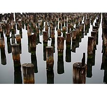 Glassy morning Station Pier Melbourne Photographic Print