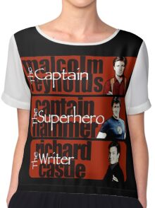 The Captain, The Superhero, and The Writer Chiffon Top