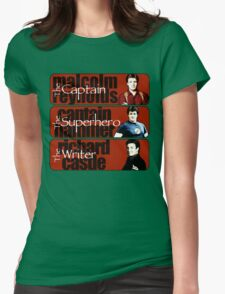 The Captain, The Superhero, and The Writer Womens Fitted T-Shirt