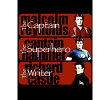 The Captain, The Superhero, and The Writer Photographic Print