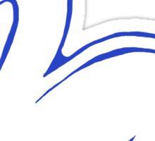 Swan Printmaking Art Sticker