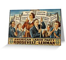 American Labor Party Greeting Card