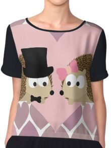 Hedgehogs and Hearts Chiffon Top