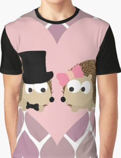 Hedgehogs and Hearts Graphic T-Shirt