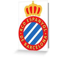 RCD Espanyol Badge 2016 Greeting Card