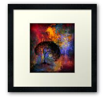 Lonely Tree in dreamland Framed Print