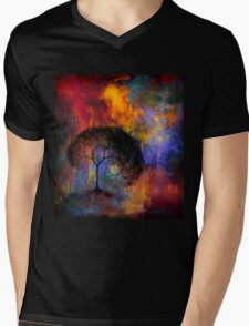 Lonely Tree in dreamland Mens V-Neck T-Shirt
