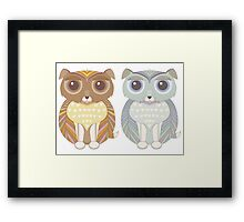 Two Fluffy Dogs Framed Print