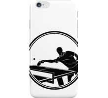 Mens Table Tennis iPhone Case/Skin