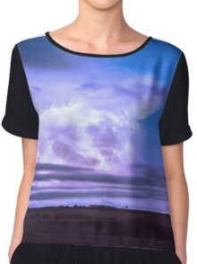 On The Edge Of A Storm Chiffon Top