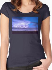 On The Edge Of A Storm Women's Fitted Scoop T-Shirt