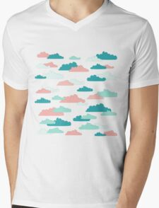 Cloudy Sky Mens V-Neck T-Shirt