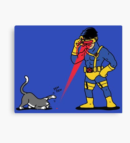 Lasers and cats Canvas Print