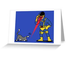 Lasers and cats Greeting Card