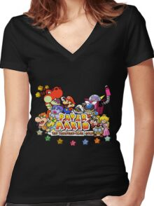 Paper Mario: The Thousand Year Door Women's Fitted V-Neck T-Shirt