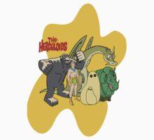 Classic Cartoons The Herculoids-  T-Shirt, Mugs, Bag and more by ©Josephine Caruana