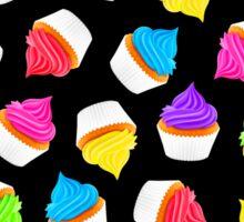 Cupcakes Black Sticker