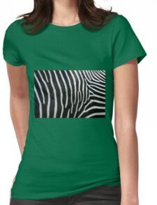 Zebra Patterns in Black and White.... Womens Fitted T-Shirt