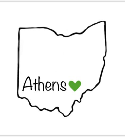 Home is where the Heart is - Athens Sticker
