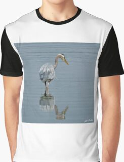 Blue Heron Hunting in Puget Sound Graphic T-Shirt