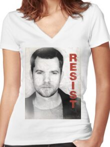 Peter - RESIST Women's Fitted V-Neck T-Shirt