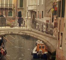 Rush Hour In Venice  Sticker