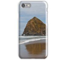 Haystack Rock Reflected in the Wet Sand iPhone Case/Skin