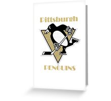 Penguins Go Yellow Penguins Greeting Card