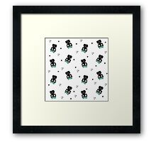 Teddies in swimming suits Framed Print