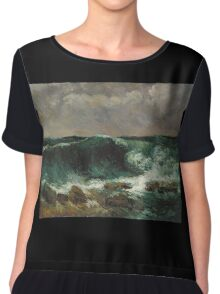 Gustave Courbet - The Wave 1869 Chiffon Top