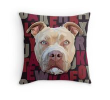 Pitbull Dog Throw Pillow