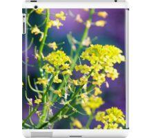 Yellow Rocket Flower Blossoms iPad Case/Skin