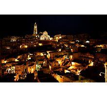 Matera after dark Photographic Print