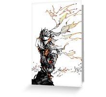 Dark Souls burning power Greeting Card