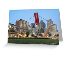 Cupid's Span - Embarcadero - San Francisco Greeting Card