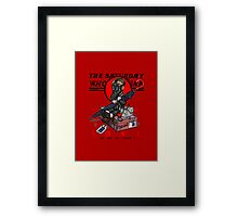 the saturday whovian post Framed Print