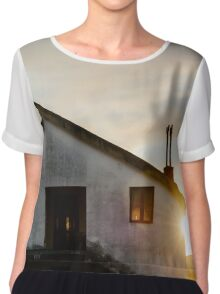 Quiet House at sunset Chiffon Top