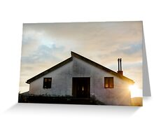 Quiet House at sunset Greeting Card