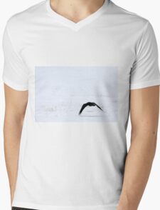 Raven in the Snow Mens V-Neck T-Shirt