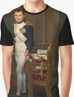 Jacques-Louis David - The Emperor Napoleon 1812 . Napoleon, Fashion Portrait Graphic T-Shirt