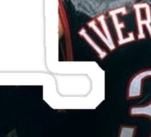 Post Malone White Iverson Sticker