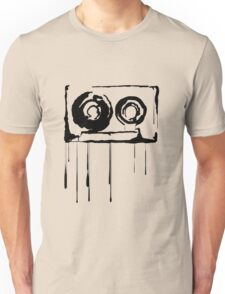 Splatter Cassette (black) Unisex T-Shirt