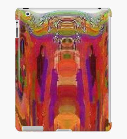 in purple gloves iPad Case/Skin
