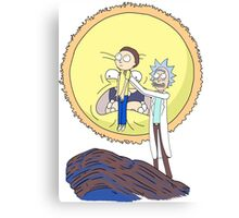 Morty to the Sun Canvas Print