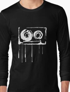 Splatter  Cassette (white) Long Sleeve T-Shirt
