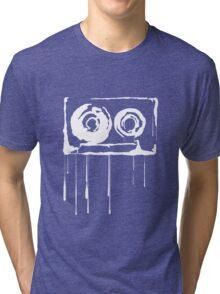 Splatter  Cassette (white) Tri-blend T-Shirt
