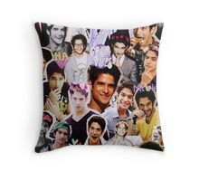 Tyler Posey Collage Throw Pillow