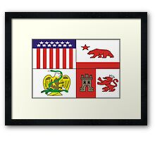 Banner of the City of Los Angeles Framed Print