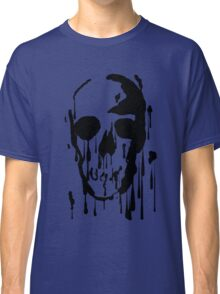 Splatter Skull (black) Classic T-Shirt